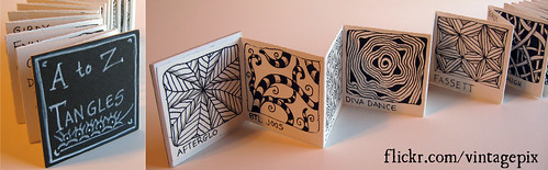 A to Z Tangles accordion book