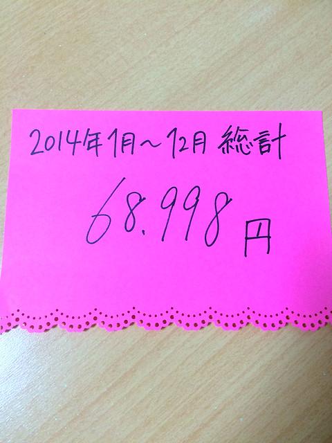 2014年お手紙文具購入総計