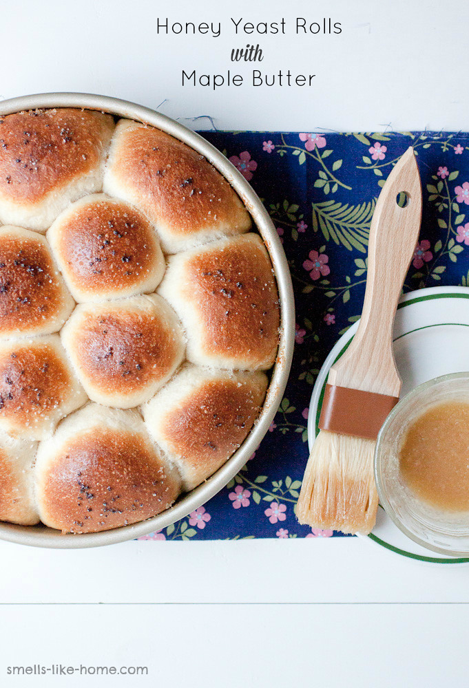 Honey Yeast Rolls with Maple Butter