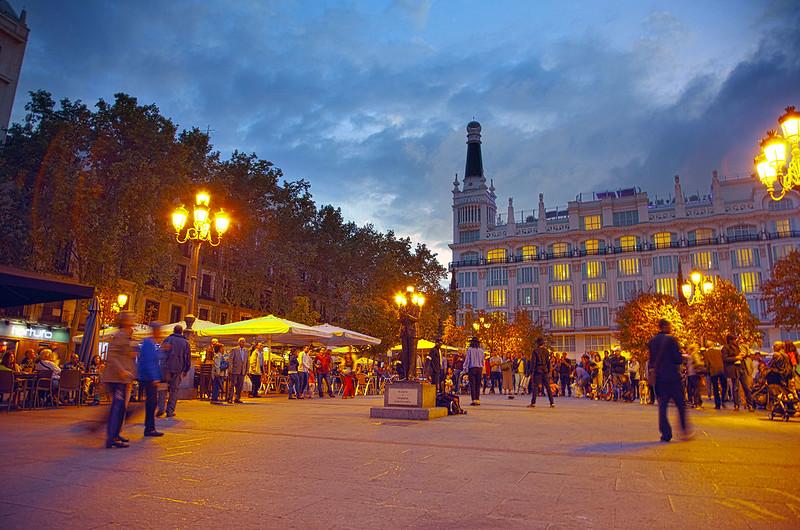 Plaza at sunset
