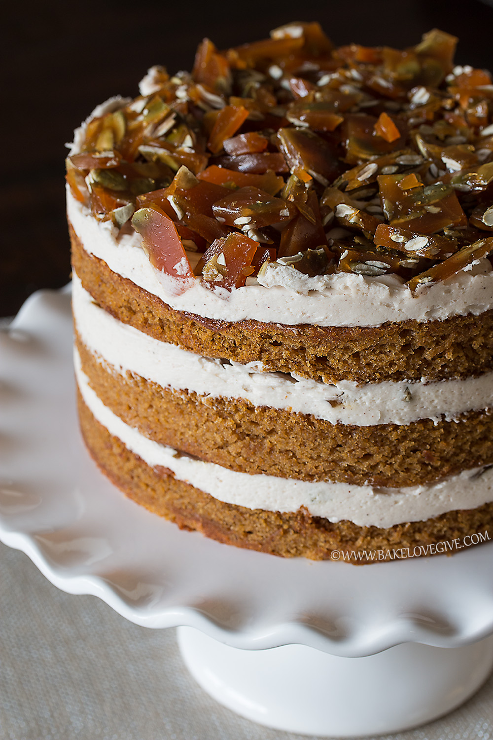 Pumpkin Layer Cake Cream Cheese Icing