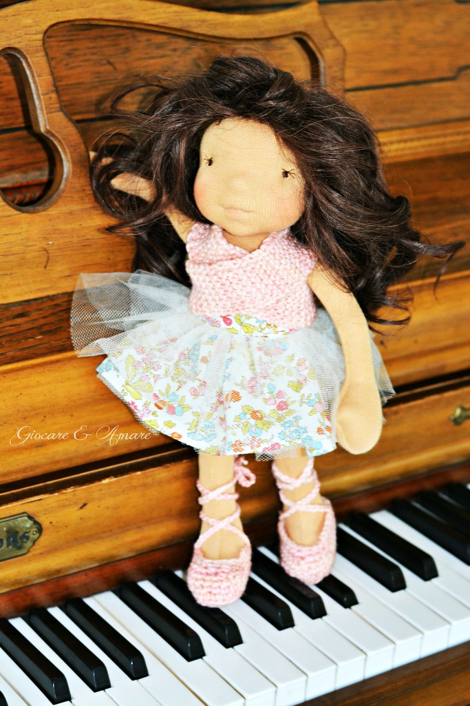 Angelina - a 13 inch Bellarina style cloth doll