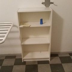 drawer(0.0), changing table(0.0), chest of drawers(0.0), table(0.0), floor(1.0), shelving(1.0), shelf(1.0), furniture(1.0), room(1.0), bookcase(1.0),