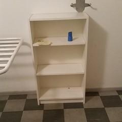 floor, shelving, shelf, furniture, room, bookcase,