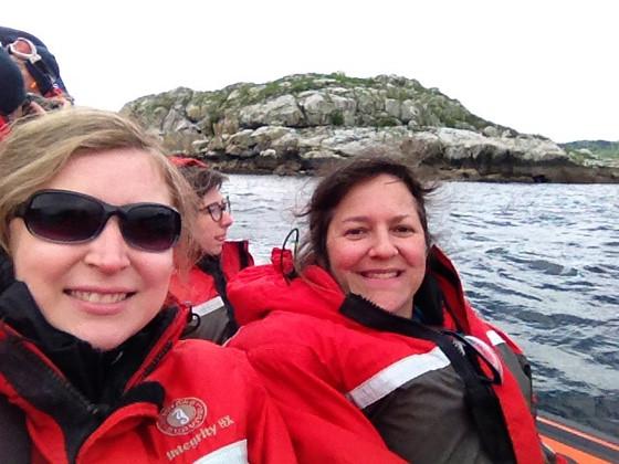 Landsea Tours media trip: Rebecca Bollwitt and me