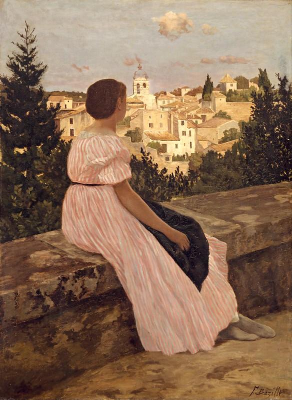 Frédéric Bazille - The Pink Dress (1864)