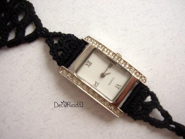 orologio collana nera 5
