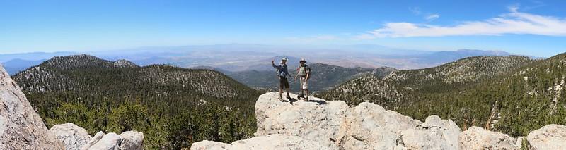 Panorama on the way to Shirley Peak