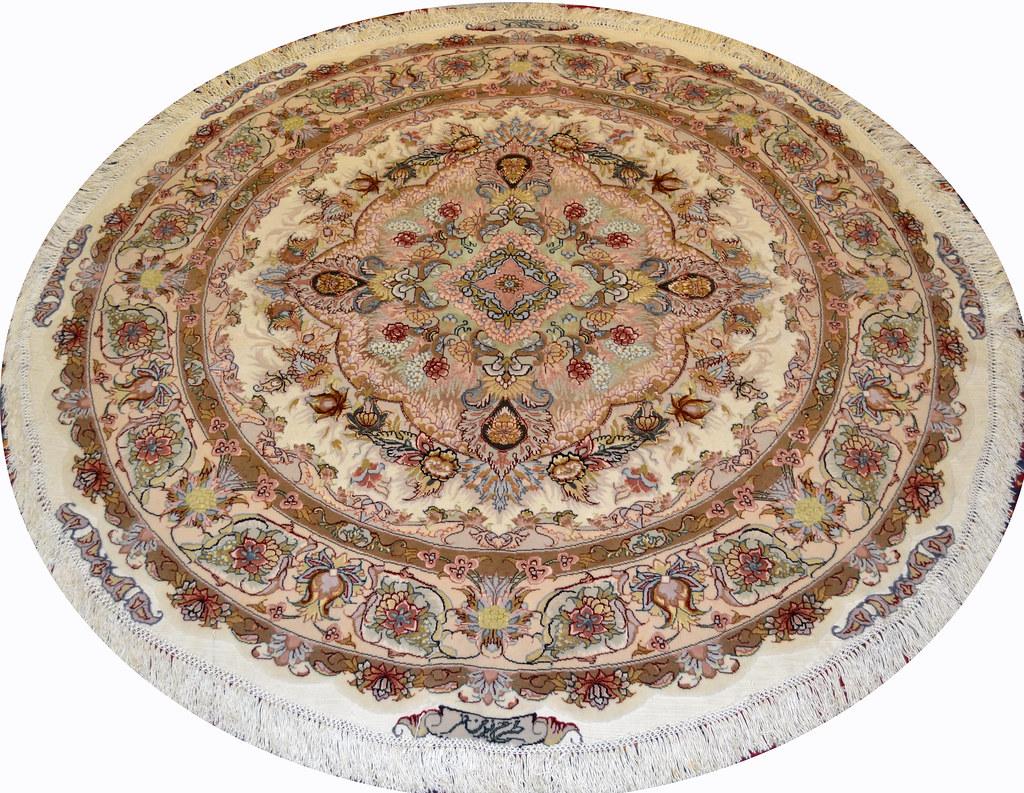 Round Persian Rug 5x5 Tabriz (3)