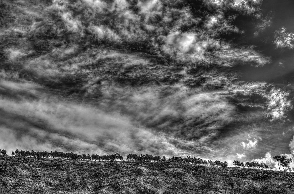 Dramatic sky - b&w