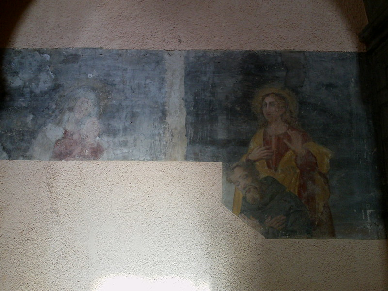 13-14th century fresco inside Melfi Duomo