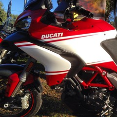 Think it tastes like peppermint?  #ducati #multistrada #pikespeak #candycane #corse #ducatitampa #racing