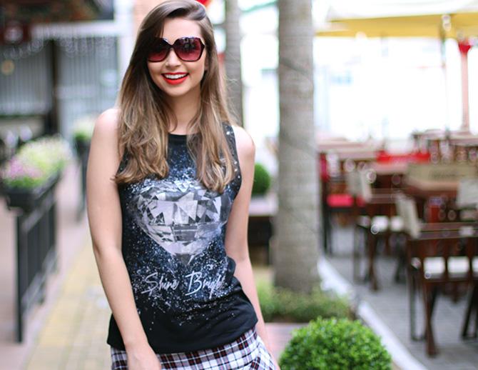 05-saia xadrez blusa preta sempre glamour
