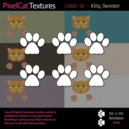 PixelCat Textures - Colab 112 - Kitty Sweater