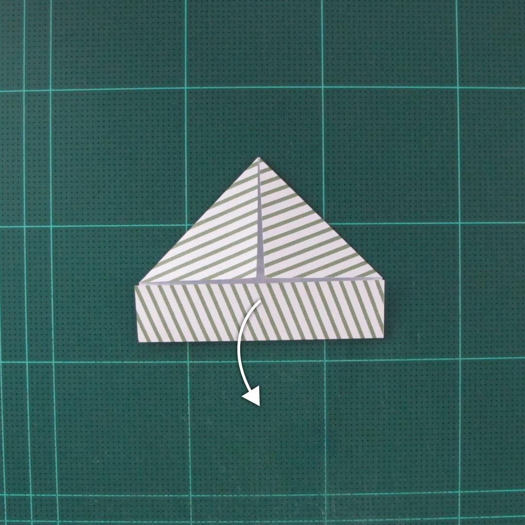 วิธีทำหรีดห้อยหน้าประตูสำหรับวันคริสต์มาส (Christmas wreath origami and papercraft) 007