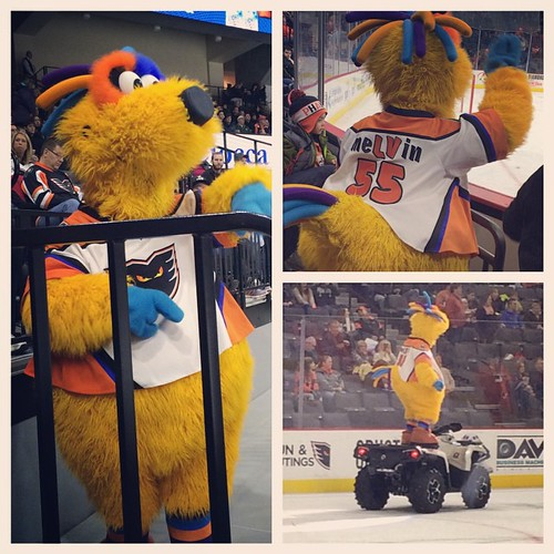 The LV Phantoms mascot, Melvin, is basically the adorable baby cousin of the Phillie Phanatic and for that reason I obviously love him.