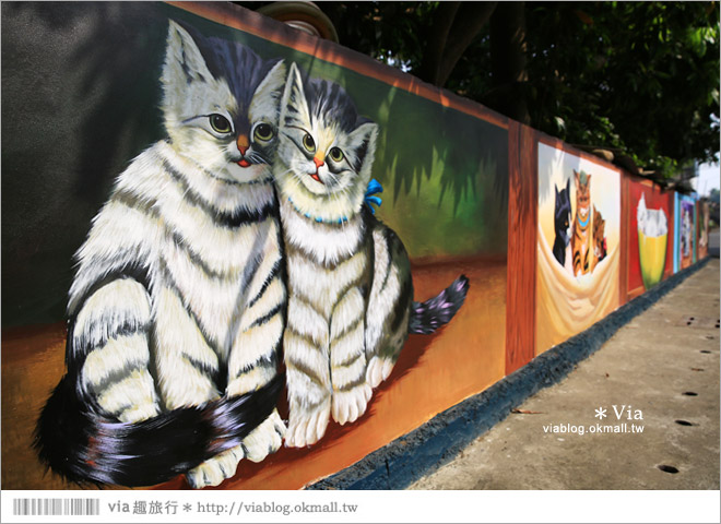 【嘉義菁埔貓世界】嘉義貓村~菁埔彩繪村。迷你版貓村,立體貓掌好俏皮!13