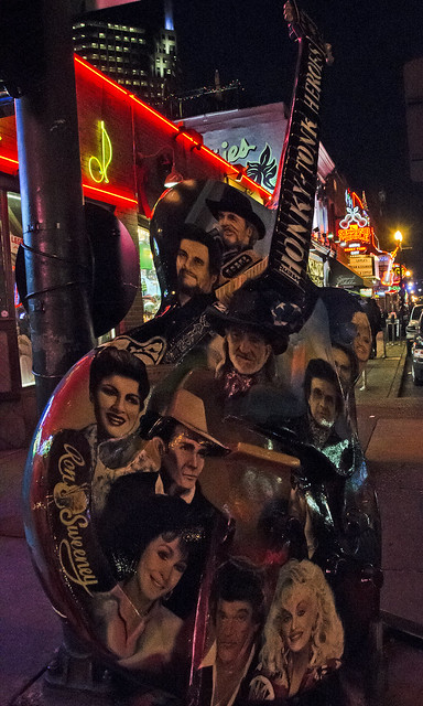 """Honky-Tonk Heroes"" Guitar Sculpture (?) on a Corner of Broadway"