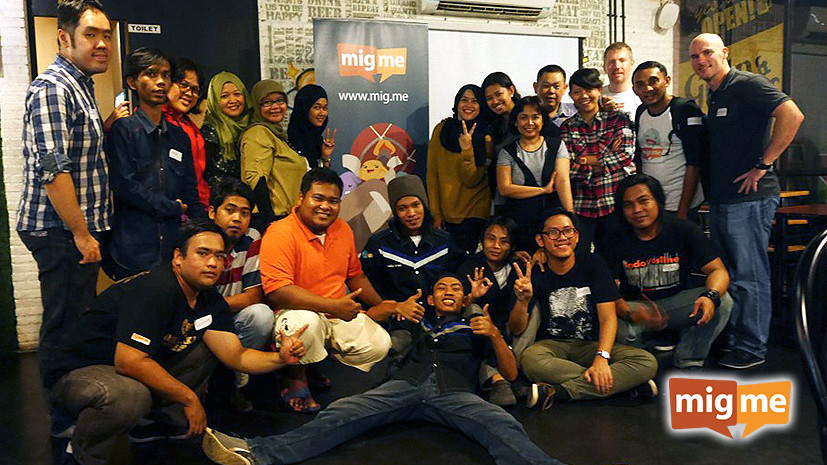 #migup in Jakarta with loyal migme users
