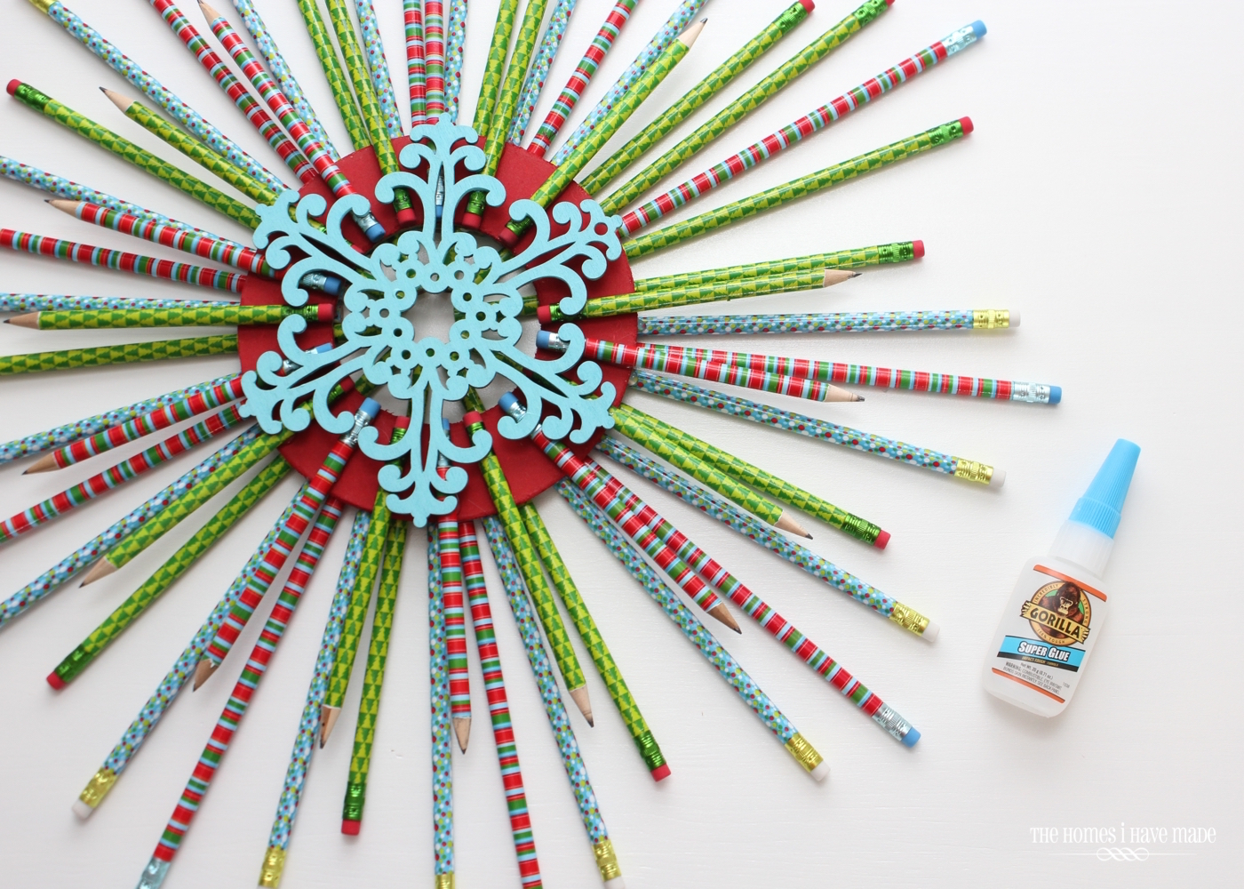 Pencil Starburst Wreath-012