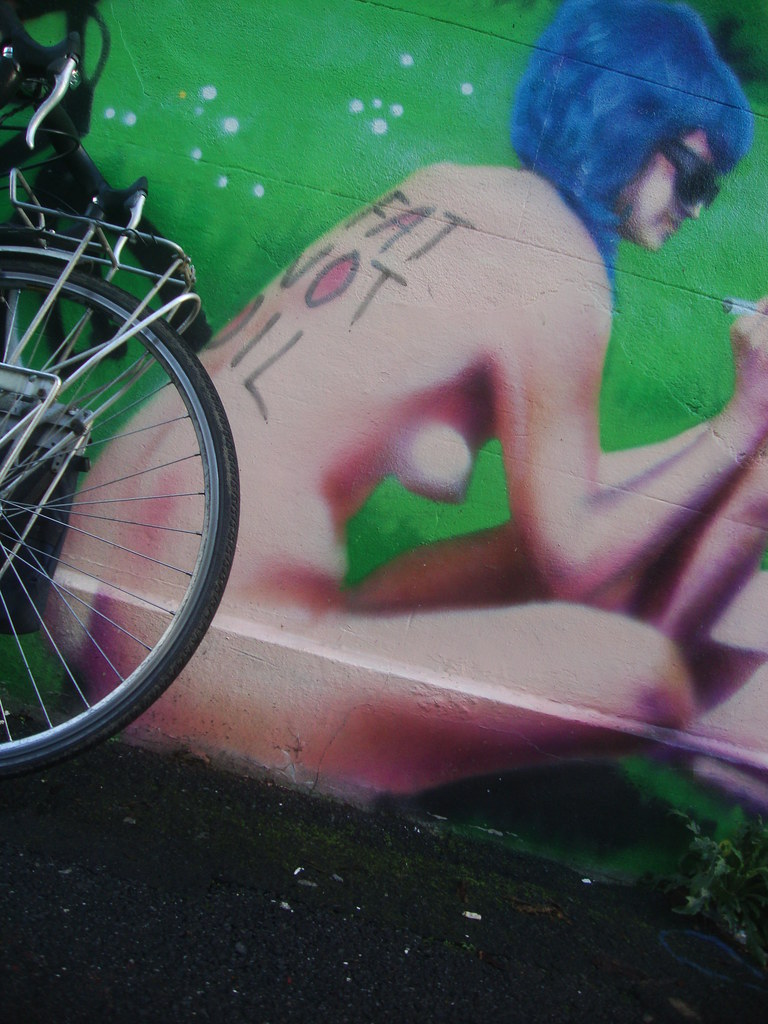 Brighton Naked Bike Ride Graffiti/Mural 5
