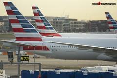 N727AN - 33541 1176 - American Airlines - Boeing 777-323ER - Heathrow - 141220 - Steven Gray - IMG_2677