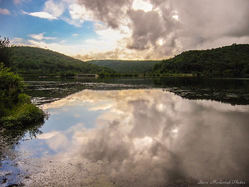 summer sky lake storm water clouds canon reflections newjersey stormy powershot reservoir summertime a510 monksville monksvillereservoir smack53