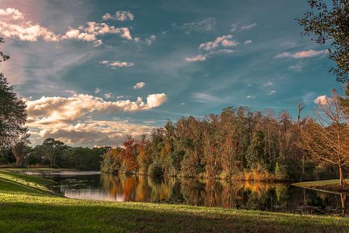 sunset lake clouds landscape lago atardecer orlando nikon florida paisaje nubes sombras reflejos d5200