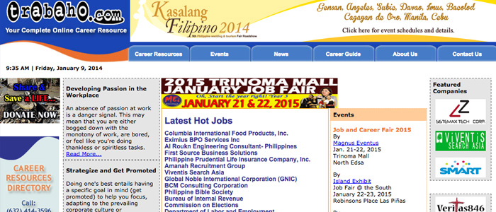 Job Search Websites in the Philippines - Trabaho