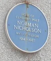 Photo of Norman Nicholson blue plaque