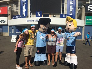 With the mascots at the Sydney FC game