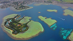 archipelago, bird's-eye view, bay, island, artificial island, aerial photography,