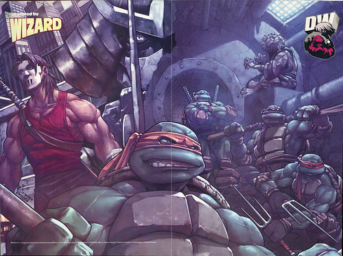 "WIZARD PosterMania! 2003 :: Poster #47; DREAMWAVE ""TEENAGE MUTANT NINJA TURTLES"" ..art by Pat Lee & Ramil Sunga (( 2003 ))"