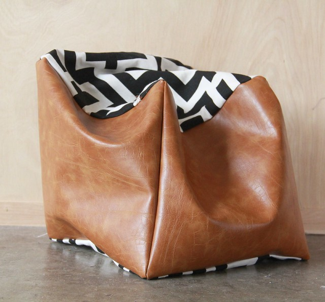 how-to-make-a-fabric-leather-floor-pouf