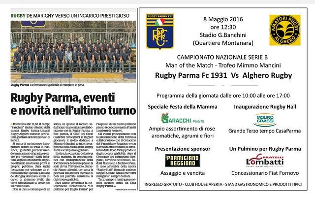 Gazzetta di Parma 7 maggio 2016