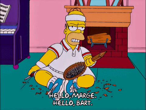 homer simpson, season 12, creepy, episode 12, tennis, 12x12, whittle