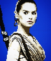 May the 4th be with you - Lego Mosaic of Rey