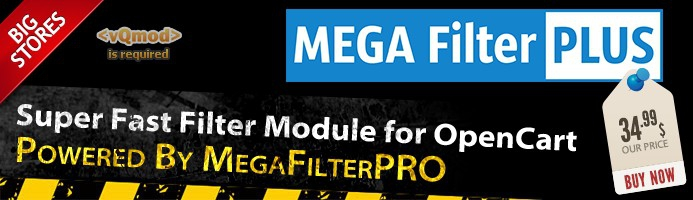 Mega Filter PLUS v1.2.2 + Mega Filter PRO v2.0.4.4.7 - OpenCart Extension