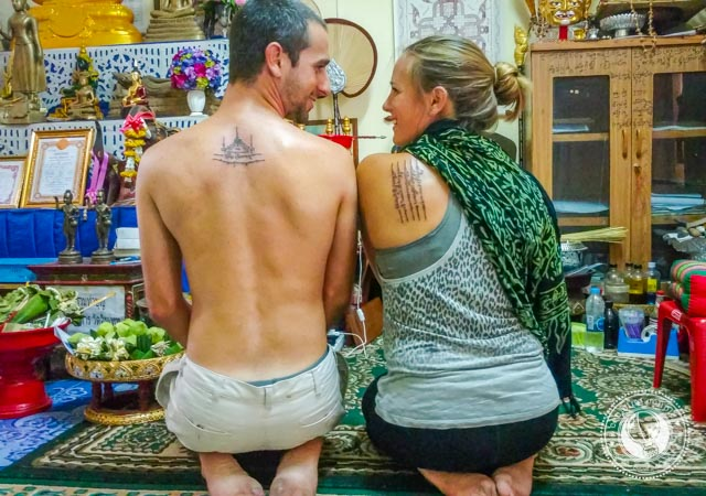 Tattoes by Buddhist Monk in Chiang Mai