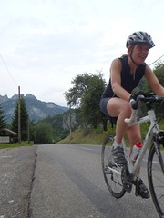 Helen enjoying the mountain passes on her Road Bike Image