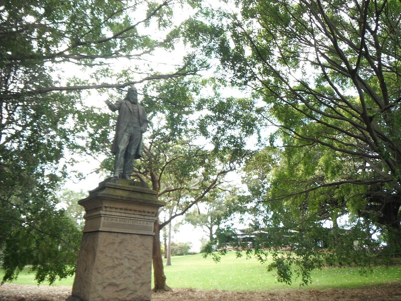 Not quite a Soap box but a statue of a soeaker in the Domain, Sydey