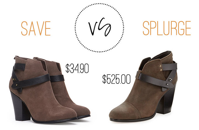 save or splurge wrapped suede leather ankle booties