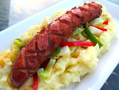 KORV MED POTATIS MOS (SWEDISH SAUSAGE & POTATO PUREE)