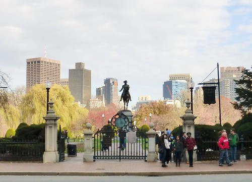 Public Garden with Boston skyline