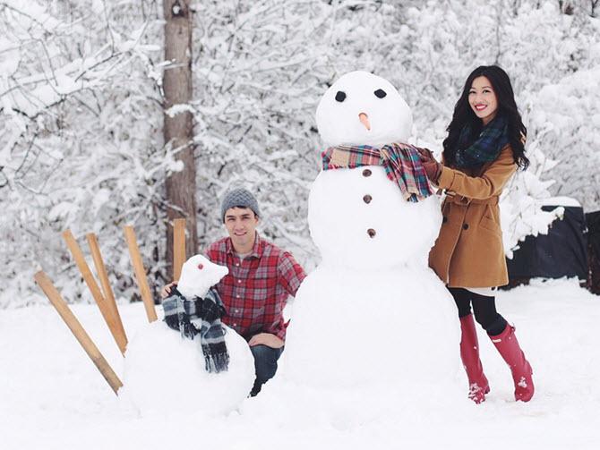 thanksgiving snowmen