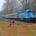 Railfans in the Rain by Joseph C. Hinson Photography
