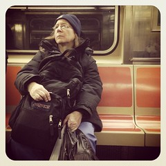 Friday morning 3 train. #nycsubwayportraits #nyc #Brooklyn #train #subway #publictransportation #commute #3train