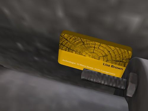 Image Description: Closeup of Lisa Brown's Business Card.