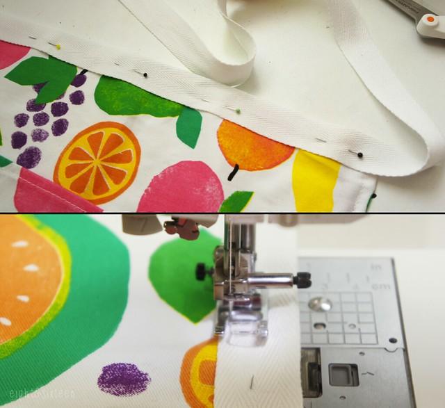 diy upcycled apron from tea towel eightandsixteen