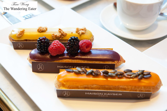New eclair flavors of pumpkin, mixed berries and yuzu
